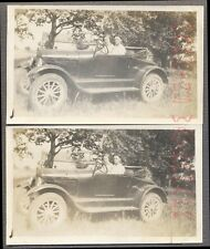 Vintage Car Photos Man & Woman in 1926 1927 Model T Ford Roadster 737444