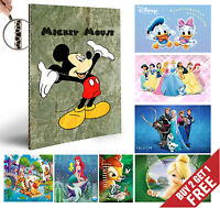 DISNEY Animation Characters A4 POSTERS  Kids Room Decoration Gift for Children
