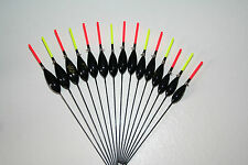 HANDMADE POLE FISHING FLOATS-RIZOV RF93-15 PCS. - 3 x 0.1/0.2/0.3/0.4/0.5 GR.