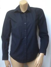 GAP Womens Size Small Black Button Front Shirt Long Sleeve Tailored Fit Career