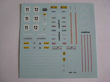 F1 DECALS KIT FERRARI 312 T2 1977 SUD AFRICA NIKI LAUDA DECAL FDS AUTOMODELLI