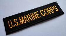 NAME TAG U.S. MARINE CORPS USMC NAVY Embroidered Iron on Patch Free Postage