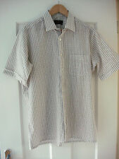 Vintage Imperial White Pattern Short Sleeve Shirt - Size 46 Inch Chest