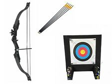 Kids Archery Set Beginner Complete Package with Target and Arrows - Black