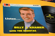 BILLY KRAMER & THE DAKOTAS LP LISTEN 1°ST ORIG UK 1963 EX LAMINATED COVER MONO