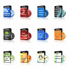 Ultimate Antivirus, Password Recovery, Data Eraser, Repair - 12 CDs in 1 DVD