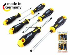 Felo 6pc 400 Ergonic Screwdriver Set Cushion Grip Phillips Flat Slotted Germany