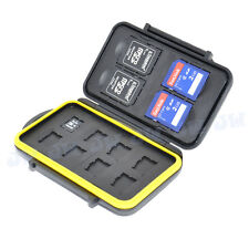 JJC Water-resistant Storage Memory Card Case For 4 SD & 8 Micro SD MSD Cards