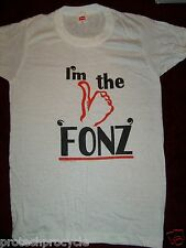 Vintage 1970's Hanes I'm The Fonz White Short Sleeve T Shirt Expressions Wear