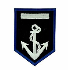 Patch anchor navy us  backpack shield applique embroidered iron on / sew