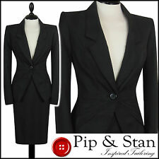 NEXT UK10/12 US6/8 BLACK PENCIL SKIRT SUIT BUSINESS WOMENS LADIES WOMAN SIZE