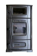 Slow combustion wood heater / stove and pizza oven with optional water jacket