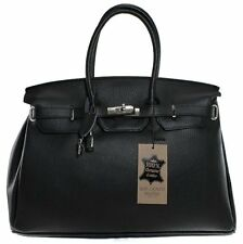 ITALIAN HAND-MADE SERGUIO ROGETTI REAL LEATHER DESIGNER SATCHEL HANDBAG TOTE BAG