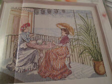 """le thé sur la terrasse"" all our yesterdays cross stitch chart (uniquement)"