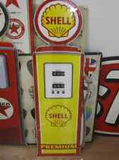 Giant Size SHELL PREMIUM GAS PUMP 3D Metal Tin Sign Retro-Vintage