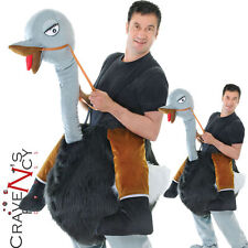 Adult Ostrich Costume Step In Bird Costume Animal Ride On Fancy Dress Outfit New