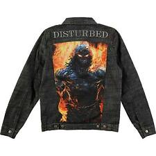 New Disturbed Indestructible Heavy Metal Denim Jean Jacket (2XL) badhabitmerch