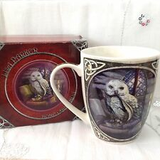 NEW LISA PARKER DESIGN GOTHIC OWL AND QUILL DESIGN MUG, GIFT BOXED, BONE CHINA