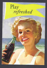 """1999 COCA COLA MINT POST CARD """"PLAY REFRESHED"""""""
