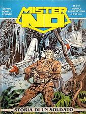 """Mister NO n.345 """" Storia di un soldato """" ed. Bonelli"""