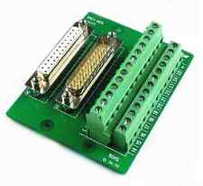 DB25 DB25-MG6 Male / Female Header Breakout Board Terminal Block