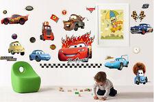 Hot Cartoon lightning McQueen Mater Cars Wall Stickers Kids Home Decor USA