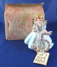 Vintage Josef Originals Fifth Year Birthday Girl 5 Figurine with Tag and Box