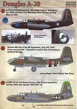 Print Scale Decals 1/72 DOUGLAS A-20 HAVOC Medium Bomber