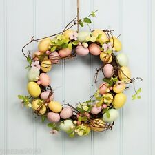 Gisela Graham Easter Egg Floral Blossom Twig Wreath Table Decoration 37.5cm Door