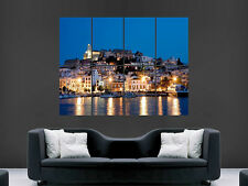 IBIZA TOWN IMAGE ART WALL PICTURE POSTER GIANT HUGE PRINT