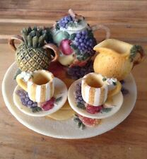 Vintage Fruit Themed 10 pc Mini Tea Set