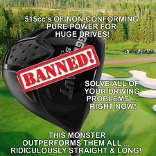 #1 ILLEGAL TAYLOR FIT MADE +25 YARDS LONGEST NON-CONFORMING BANNED 515cc DRIVER