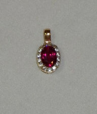 Beautiful Stauer Scienza Lab-Created RUBY PENDANT - .925 Silver- Free Shipping!