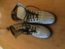 DOC MARTENS ORIGINAL AIR WAIR AIRWAIR BLUE RED WHITE CHECK LEATHER BOOTS UK 6