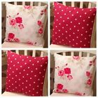 *AUNTIE-MABLE* 8 Red Spot Nancy Floral Shabby Chic Cushion Covers 16""