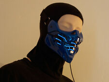 HA Cyborg Sub-Zero with Blue EL wire Airsoft Cosplay mask - Made to order -