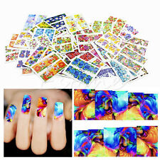 New 50 Sheets Nail Flower Art Wrap Water Transfer Slide Flower Decals Stickers
