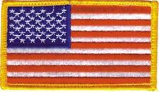 "NEW USA Flag patch. 2-3/8"" tall x 3-1/2"" wide 7140."