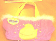 YELLOW Marshmallow Peeps Chick Easter Basket Candy Bag Just Born Purse Pink Baby