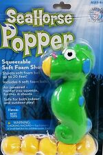 Hog Wild Seahorse Popper Foam Ball Launcher Toy