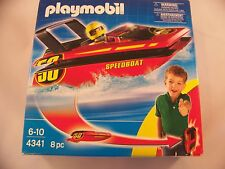 New Playmobil 4341 Click & Go Speedboat with Clip Belt 8 pcs Factory Sealed