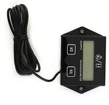 Waterproof 12V Gauge Hour Meter Tachometer Meter & Wire For Boat/Motorcycle/Bike