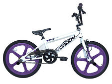 "Rooster Big Daddy Kids Bmx Bike Gyro Stunt Pegs 20"" Purple Skyway Mag Wheel RS62"