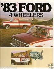 Truck Brochure - Ford - 4-Wheeler - Pickup - 1983 (TB347)