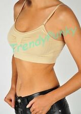 SEAMLESS SPORTS BRA LIGHT TANK TOP PADDING REMOVABLE YOGA BANDEAU BRALET