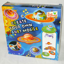 NEW MAKE AND PAINT YOUR OWN PLANET MOBILE SPACE CRAFT SET PW