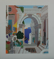 "Thomas McKnight ""CLASSICAL CITY GATE"" Signed and Numbered Serigraph with COA!"