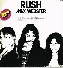 RUSH / MAX WEBSTER - 'ROCK ON' (9199275) SWEDISH ONLY COMP WITH STICKERS ETC LP