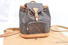 Authentic Louis Vuitton Monogram Montsouris PM Backpack M51137 LV 28984