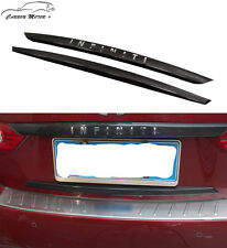 For Infiniti Q50 Carbon Fiber Back Trunk Trim Styling Body Kit 2014-2016